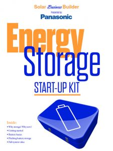 Energy storage startup kit