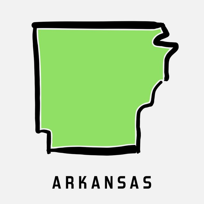 Arkansas map outline