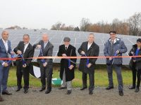 Sol Systems, Under Armour, and Greenbacker, along with government officials cut the ceremonial ribbon to celebrate the 3 MW solar project in Capitol Heights, MD
