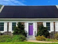 High-efficiency solar installation photo, courtesy of Solaria and Solar Rising.
