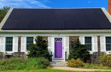 High-efficiency solar installation photo, courtesy of Solaria and Solar Rising.