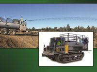 This Hydro Seed Applicator can speed up solar project vegetation seeding, spraying