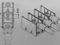 New 3-Pole M10 Stud Type AC Terminal Block