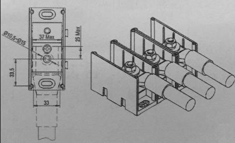 CPS AC output terminal design