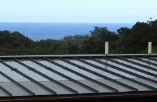 Sunflare's new PowerFit 20 panels lie flat between standing metal roof seams