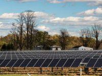 Solar energy field in Virginia.
