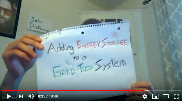 adding energy storage to a grid tied system