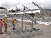 Amphenol Solar Project, New York. Solar FlexRack structures.