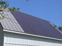 Check out this Net Zero home with a McElroy Metal roof, thin-film solar panels