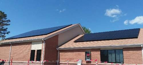 Church of St Therese Diocese of Richmond solar panels
