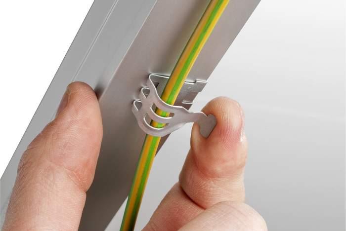Wire management-Single-Wire-Clip