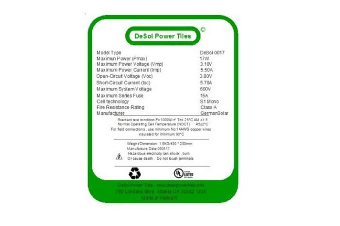 DeSol Power Tiles