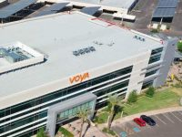 Voya's new Chandler, Arizona, facility was built with environmental sustainability in mind, including nine solar carports expected to offset more than 663,600 kilowatt-hours of electricity in its first year of operation alone.