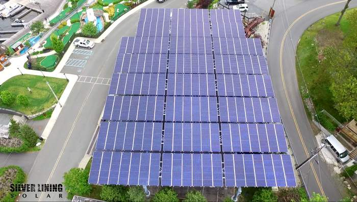 Quest Renewables - Silver Linings Solar Carport at Lake Hopatcong