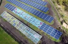 Check out this school solar array that features student art contest winners