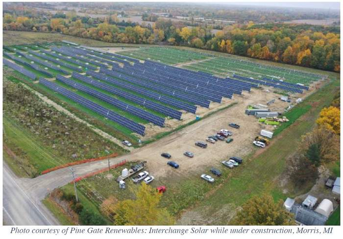 Pine Gate Renewables Morris Michigan