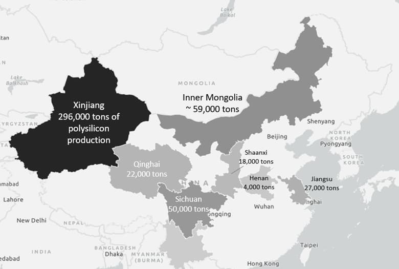 Figure+2+Polysilicon+sources+in+China+Xinjiang+accounts+for+over+50%+of+the+world's+polysilicon+production