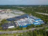 DSD shows off first of eight solar carports for IKEA stores in Maryland and California