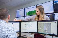Borrego Solar operations control room on July 18, 2018 in Lowell, MA. (Photo By: Greg M. Cooper / Borrego Solar)
