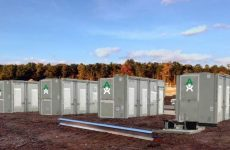 Image of the containers housing the energy storage system