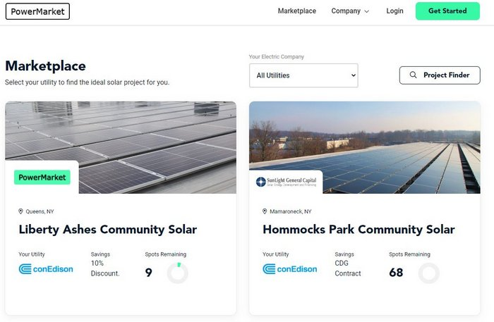 PowerMarket community solar
