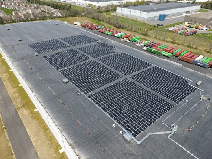 MCS Industries 894 kW roof mounted solar power generating system