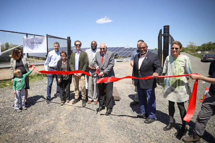 Ribbon cutting for New Jersey's first landfill community solar project.