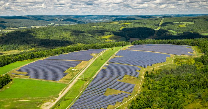 Located in Chenango County, New York, CS Energy completed this solar project in the fall of 2020.