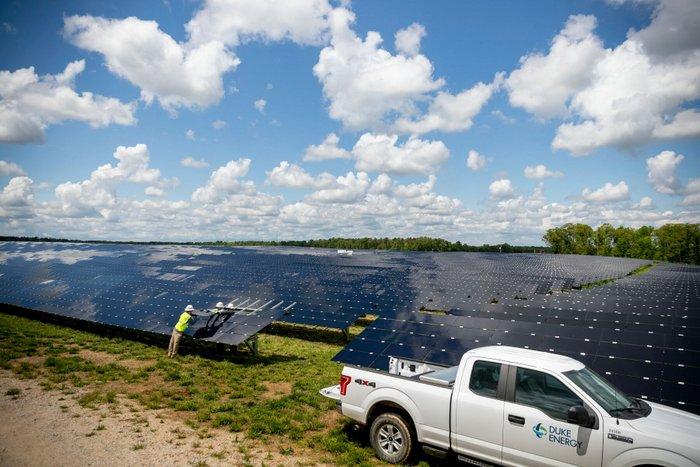 Duke Carolinas solar construction