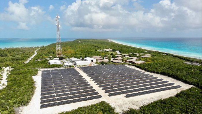 Solar project on Highbourne Cay in the Bahamas
