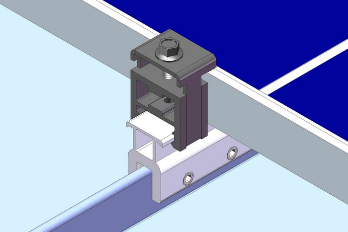 metal roof product 1 - Rail-Less Standing Seam Metal Roof Mounting Kits