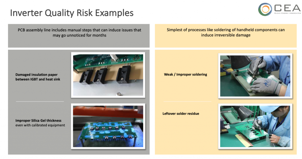 Quality risk example
