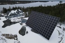 Check out the massive Mechatron dual-axis solar tracker at this Nova Scotia estate