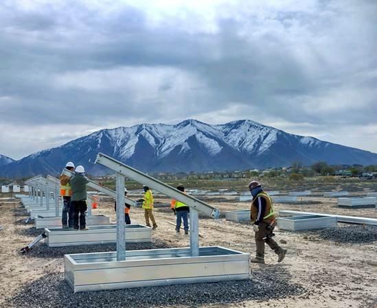 Solar FlexRack installation in Utah