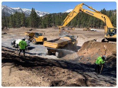 Geothermal project under construction