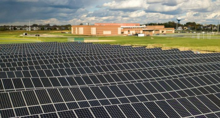 Huntley community school solar forefront power