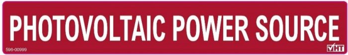 PV power source label