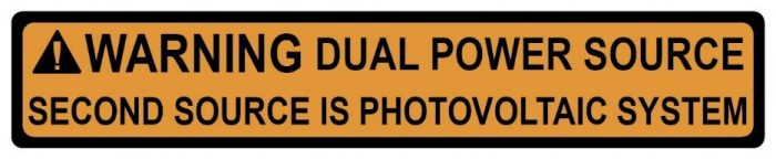 warning dual power source