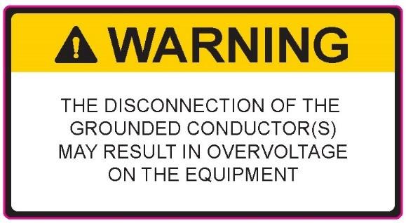 Warning label nec 2020