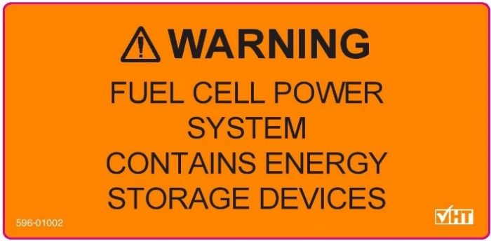 Warning fuel cell power system