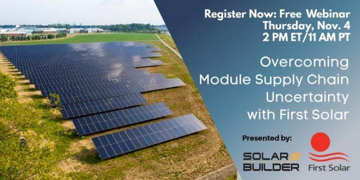 First Solar module supply chain