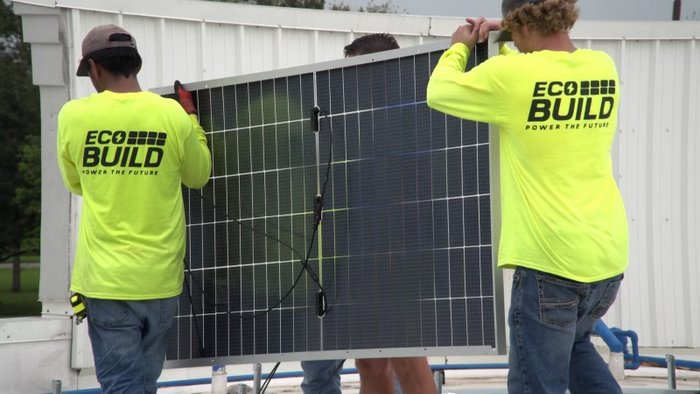 EcoBuild rooftop solar installation